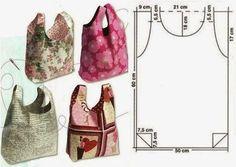 Materiales gráficos Gaby: Costuras : Bolsos moldes