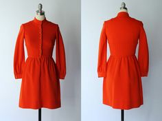 1960s Short Red Wool Dress // Lanz Originals by COCOVINTAGES