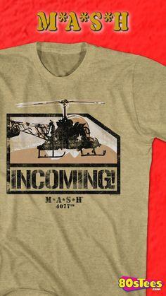 MASH TV Show CHOPPER Licensed Adult T-Shirt All Sizes