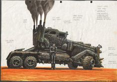 Peter Pound's concept designs for Mad Max: Fury Road.