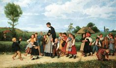 The Athenaeum - The School Walk (Albert Anker)