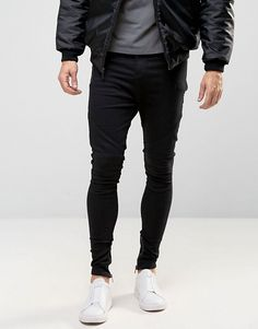 Religion | Religion Drop Crotch Jean With Biker Knee Detail and Zip Ankle