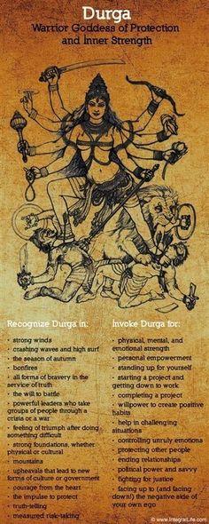 Mythology + Religion: Durga, Hindu Warrior Goddess of Protection and Inner Strength Wicca, Magick, 3 Chakra, Sacred Feminine, Hindu Deities, Hindu Art, Indian Gods, Indian Art, Lord Shiva