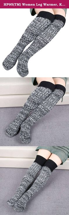 "HP95(TM) Women Leg Warmer, Knit Mixed Color Woolen Yarn Boot Stocking High Socks (Black). Women Step Foot Knit Mixed Color Woolen Yarn Over Knee Stocking High Socks Feature: 100% new and high quality! Material:woolen yarn Color:Red,Navy,Gray,Coffee,Black,Beige Length: about 57+5cm/22.4""+2""(Tile ,No stretch of the measure, From toe to High) One size fit most,stretchy Soft and fashionable Very comfortable Stretch Fabric,a perfect gift to yourself or friends. Pls Note:Different computer have..."
