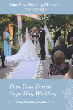 Voted Best Wedding Officiant of the Main Line in 2018 and 2019! Whether you are eloping last minute or planning the wedding of your dreams, Lori will create a unique ceremony and work with you to make sure that it feels perfect and fits your style, values and beliefs. Let Lori help you create a ceremony that sparks what your hearts feel! Find Lori and other great wedding resources for you Cape May wedding by registering on CapeMayWeddingGuide.com Wedding Cape, Dream Wedding, Wedding Officiant, Wedding Venues, Cape May Beach, Romantic Proposal, Waterfront Wedding, May Weddings, Anniversary Parties
