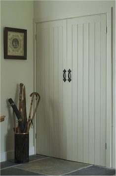 An inspirational image from Farrow and Ball - A hall in Off-White Estate Emulsion and Estate Eggshell.