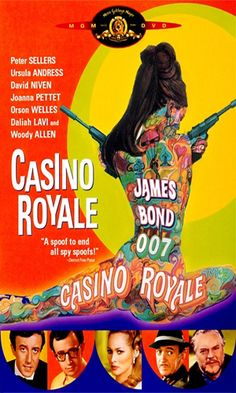 Casino Royale (1967) the truly appalling spoof (even more misogynistic than actual Bond series....and including Deborah Kerr making light of rape?!!)  featuring way too many stars who should have known better....the only saving grace, fab costumes. Nope, even that doesn't save it.
