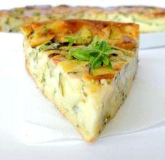Clafoutis leger aux courgettes et fromage de chevre