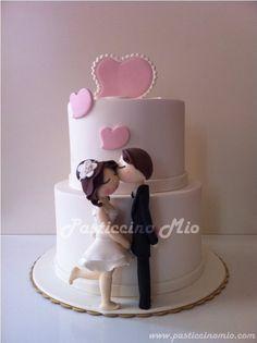 Engagement Cake - by PasticcinoMio @ CakesDecor.com - cake decorating website