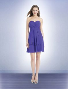 Let the girls pick their own style, but all consistent with knee length and black chiffon fabric.