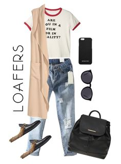 Loafers by aympd on Polyvore featuring polyvore, fashion, style, H&M, Gucci, Dorothy Perkins, MICHAEL Michael Kors, Yves Saint Laurent and clothing