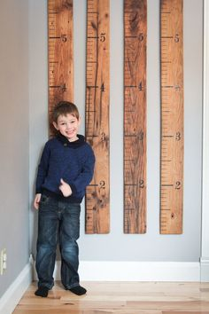 Rustic Barn Wood Growth Ruler