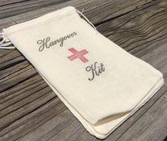 10 Hangover kits, recovery kit, hangover kit, bachelorette party survival kit…