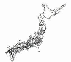 【D3.js】文字で日本地図書いてみた。