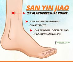 The #SP6 point is all you need to sleep better and look amazing! #Acupressure #ModernReflexology