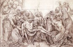 Christ carried to the Tomb - Rogier van der Weyden Jan Van Eyck, Prado, Städel Museum, Cross Drawing, Kunsthistorisches Museum, Pictures Of Christ, Chalk Drawings, Body Drawing, Albrecht Durer