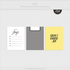 Quality DigiScrap Freebies: Joy journal cards freebie from Digital Design Essentials #projectlife