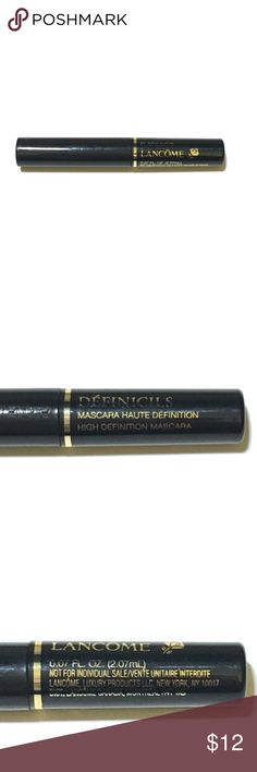 Lancome Mascara Lancome Defincils Definition Mascara || Brand New || Deluxe Size .07 oz  Brush on lavishly long, perfectly-defined lashes with this signature mascara. Its flexible polymers coat each lash from root to tip, lengthening and defining each lash for unmatched definition. Lancome Makeup Mascara
