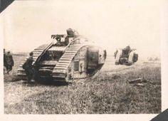 Tanques británicos durante la ofensiva del Somme