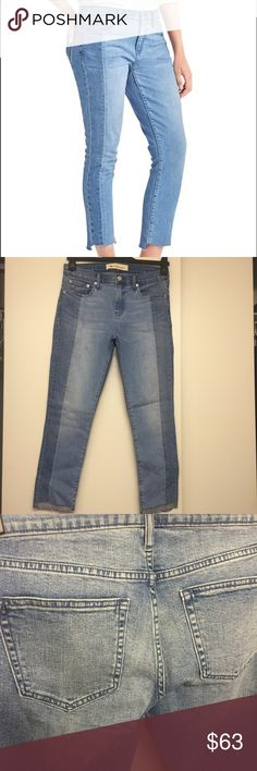 """Gap two tone best girlfriend jeans Fit & Sizing Fit: Relaxed through the hip and thigh. Cut: Mid rise. Leg opening: Relaxed. Front inseam: regular 26""""/66 cm, tall 30""""/77 cm, petite 24""""/60 cm. Model is 5'9.5""""/177 cm, waist 24""""/61 cm, hips 35""""/89 cm, wearing a regular Gap size 27. GAP Jeans"""