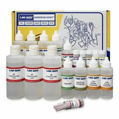 Refill (Chemicals Only) for Properties of Acid and Bases Experiment Kit - Lab-Aids® No. 82 ~ Acids, Bases, & Salts ~ Kits