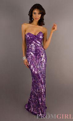 Black prom dresses - floor length strapless sequin purple dress at www. Black Prom Dresses, Mermaid Prom Dresses, Satin Dresses, Strapless Dress Formal, Girls Dresses, Formal Dresses, Sparkly Dresses, Bridesmaid Dresses, Formal Cocktail Dress