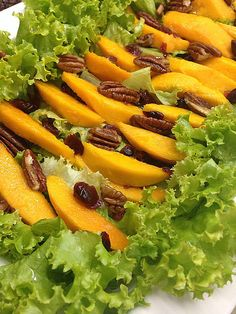 Sugg-r and some Salt: ensalada {invitada} de mango y frutos secos #ponunaensalada Carrots, Vegetables, Food, Olive Oil Dressing, Pecans, Lettuce Salads, Dressings, Beverages, Essen