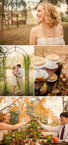 Love this wedding.. see for more fall wedding inspiration..I love the vintage vibe :]