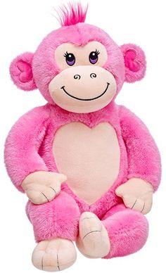 NEW Build a Bear Precious Pink Heart Monkey 17 inch Stuffed Plush Toy BAB Animal  In Stock Now at http://www.bonanza.com/booths/TweetToyShop