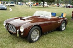 Photographs of the 1955 Siata 208 S. Chassis number Annual Burn Prevention Foundation Concours d'Elegance of th. Classic European Cars, Classic Cars, Steve Mcqueen Cars, Carrera, Vintage Cars, Antique Cars, Automobile, Old School Cars, Small Cars