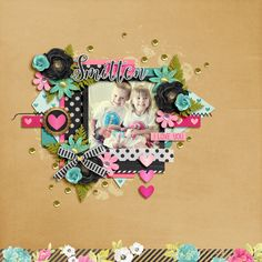 Digital Scrapbook Layout using  Adore by Studio Flergs and Love, Joy & Happiness template by Two Tiny Turtles