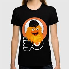 9d08b3fa108 Support your favorite team the Philadelphia Flyers Buy Gritty the mascot  of. The Flyers T-shirt by mimie20. Worldwide shipping available at  Society6.com.