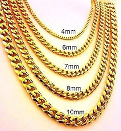 Humorous New Men Heavy 12mm Stamper 24 K Solid Gold Finish Authentic Finish Miami Cuban Link Chain Necklace To Enjoy High Reputation At Home And Abroad Chain Necklaces