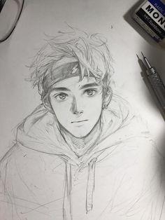 New drawing sketches boy art ideas – Art Sketches Cute Boy Drawing, Guy Drawing, Drawing People, Painting & Drawing, Manga Drawing, Drawing Ideas, Sketch Ideas, Anime Drawing Tutorials, Sketch Inspiration