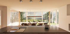 Visualisierung Essbereich Curtains, Modern, Room, Furniture, Home Decor, Architecture Visualization, Condominium, New Construction, Cottage House