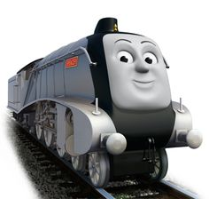 Spencer is a sleek streamlined engine privately owned by The Duke and Duchess of Boxford. Thomas And His Friends, Stuck In The Mud, Thomas The Tank, Small Engine, Wooden Letters, Locomotive, Childhood Memories, Engineering, Wedding Suits