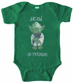 Kiditude - Star Wars Yoda Baby Bodysuit $16.95 Read more: http://www.kiditude.com/catalog/cool-baby-clothes/star-wars-yoda-baby-bodysuit-874.html