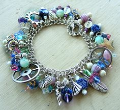 Kaylee's Shiny Happy Charm Bracelet by MistressJennie on Etsy