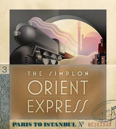 Deco Style Orient Express Poster | Illustration Copyright © 2012 ...