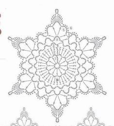 Crochet White Snowflake Tree Ornaments Christmas Snowflakes Set Of 6 Ornaments Hand Crochet Snowflake Tree Decoration Winter Wedding Decor Crochet Snowflake Pattern, Crochet Stars, Crochet Motifs, Crochet Snowflakes, Crochet Diagram, Doily Patterns, Crochet Doilies, Crochet Flowers, Crochet Patterns