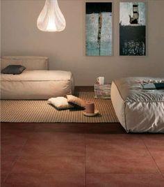 Arredare casa con pavimento in cotto - Pavimento in cotto e living moderno