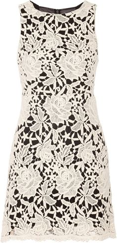 Alice + Olivia Jolie crocheted lace mini dress | ≼❃≽ @kimludcom