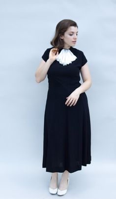478217b9678 Vintage 1940s Dress Quiet Hour Lovely by WildHoneyPieVintage