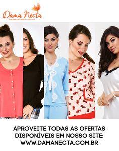 Dama Necta Pijama Camisolas e Homewear How To Wear, Women's Sleepwear, Ladies Capes, Retail, Lady