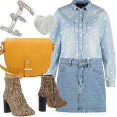 Un look total jeans per l'autunno non può mancare nel nostro armadio: i particolari accessori con stivaletti a stampa animalier, orecchini scoordinati e borsa a tracolla renderanno il tuo outfit ancora più speciale.
