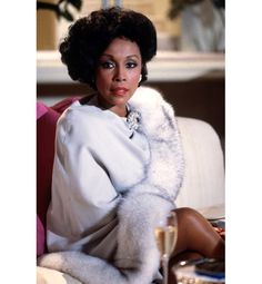 "Diahann Carroll as Dominique Deveraux from ""Dynasty"" Diahann Carroll, Vintage Black Glamour, Vintage Beauty, Black Actresses, Actors & Actresses, Hollywood Actresses, Dominique Deveraux, Der Denver Clan, Kino Film"