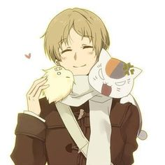 Natsume's Book of Friends (Natsume Yuuchinjou)- Natsume Takashi, Nyanko-sensei, and Kemari! Nyanko-sensei is jealous! Anime Network, Manga Anime, Anime Art, Natsume Takashi, Hotarubi No Mori, Manga Cute, Natsume Yuujinchou, Fairy Tail Manga, D Gray Man