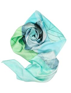 Blue and turquoise Lily wrap