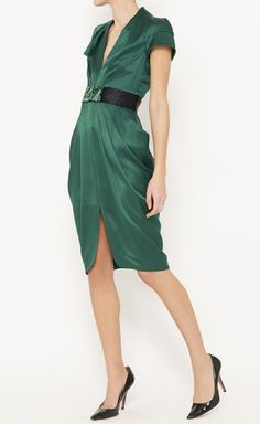 Malandrino Emerald And Black Dress