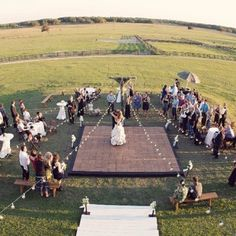 Would love to have a dance floor in a middle of a paddock with the tables and chairs surrounding!